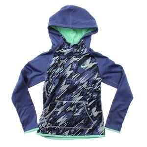 Nike Therma Training Printed Hoodie Purple Green